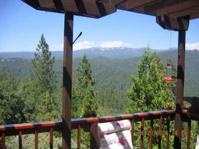 View of Raymond Mountain from kitchen deck