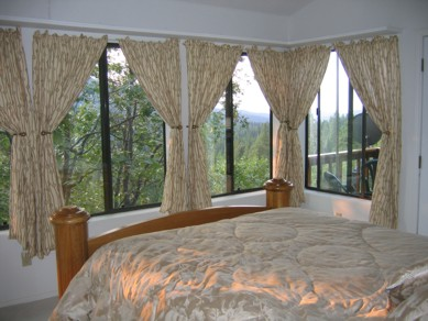 View of master bedroom and windows