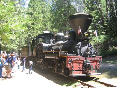 View of The Logger steam train
